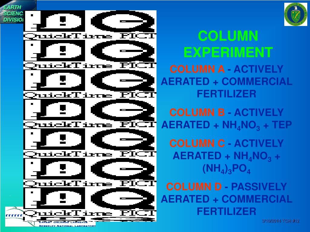 COLUMN EXPERIMENT