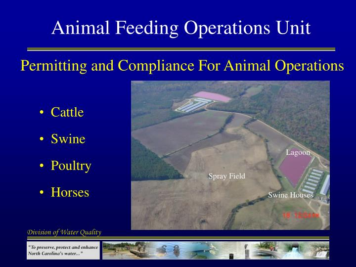 Animal feeding operations unit