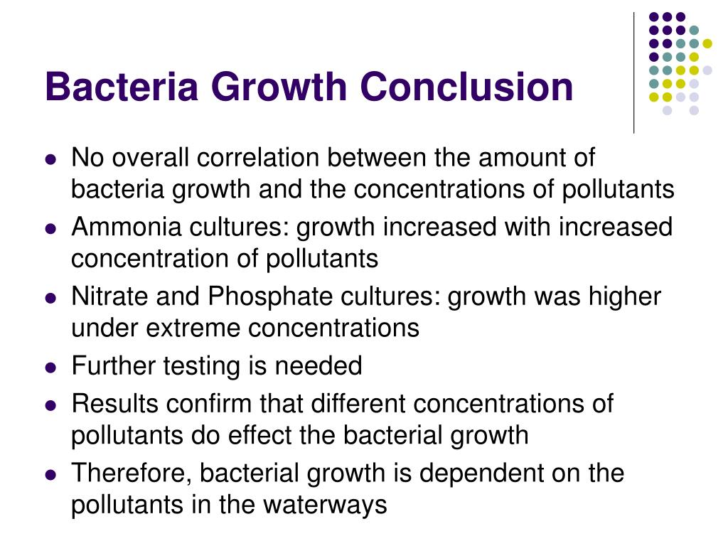 Bacteria Growth Conclusion