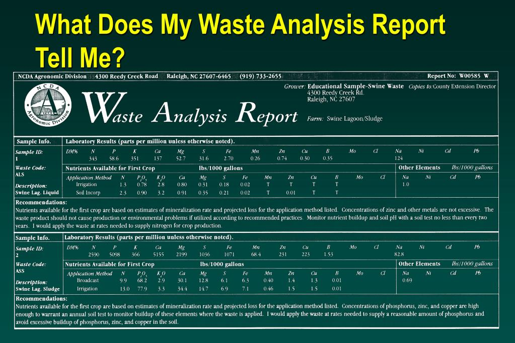 What Does My Waste Analysis Report Tell Me?