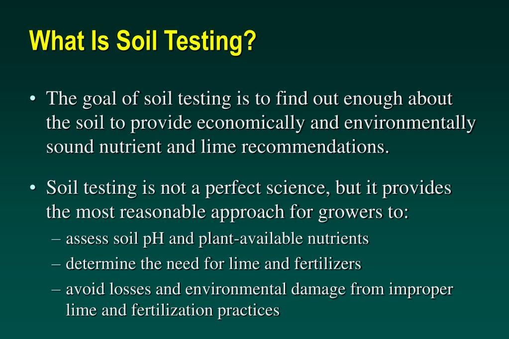 What Is Soil Testing?