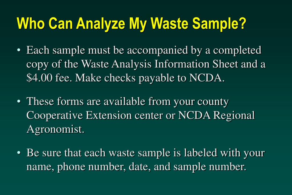 Who Can Analyze My Waste Sample?
