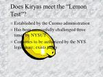 does kiryas meet the lemon test