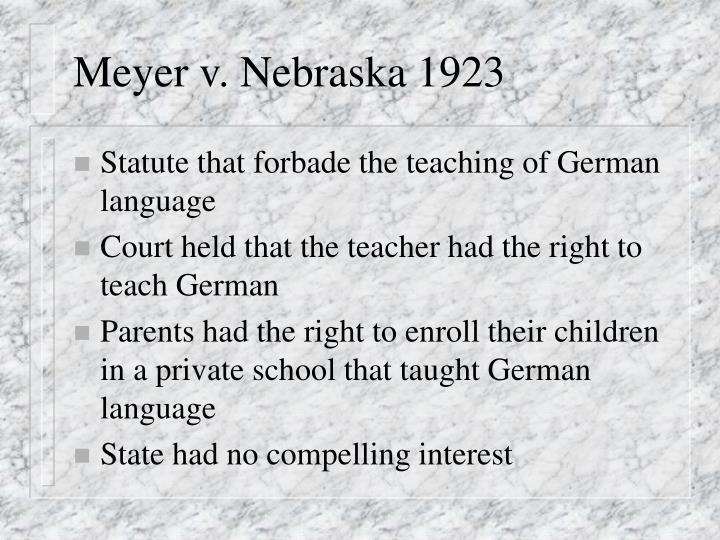 Meyer v. Nebraska 1923