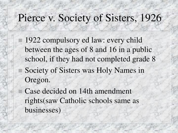 Pierce v. Society of Sisters, 1926