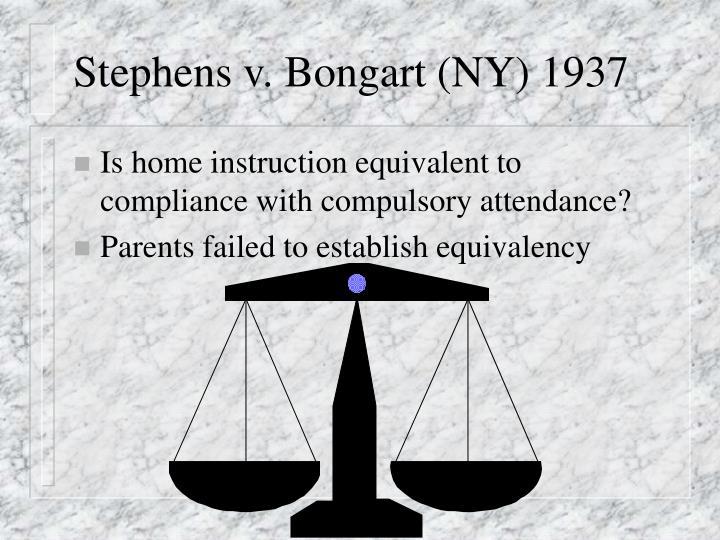 Stephens v. Bongart (NY) 1937