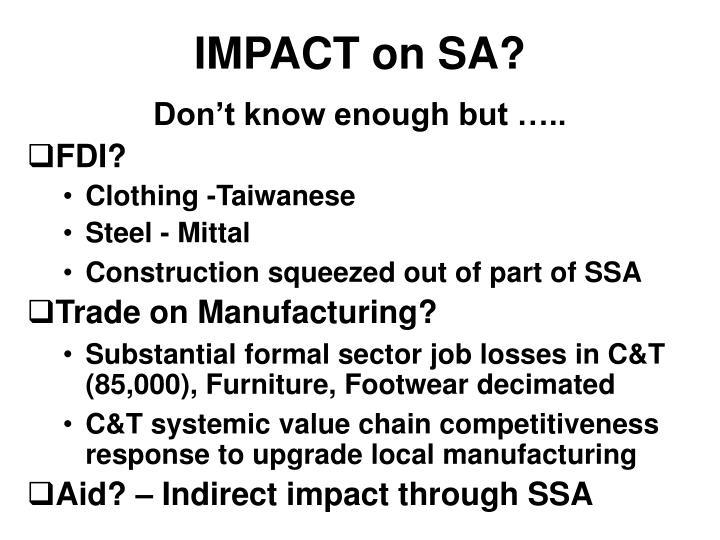 IMPACT on SA?