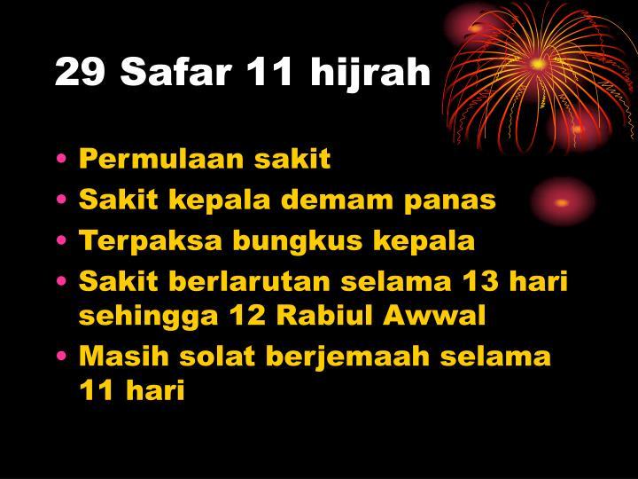 29 Safar 11 hijrah