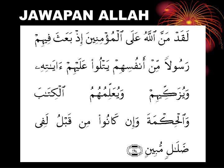 JAWAPAN ALLAH
