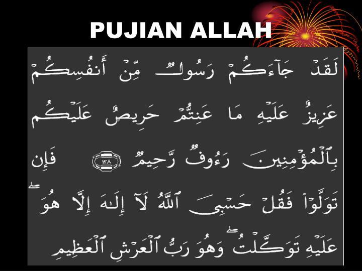 PUJIAN ALLAH