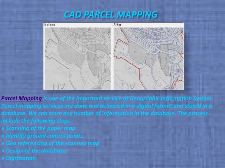 Cad parcel mapping