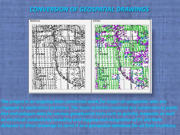 Conversion of geospatial drawings