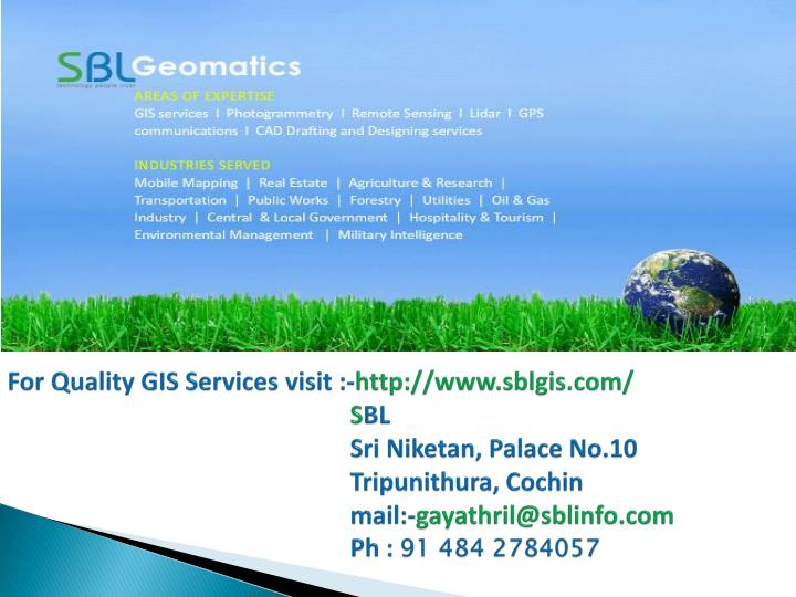 For Quality GIS Services