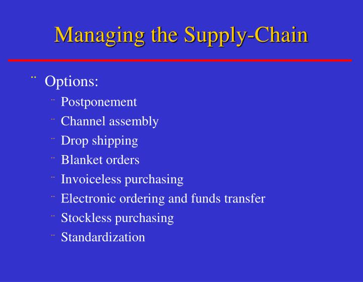 Managing the Supply-Chain