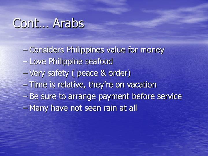 Cont… Arabs