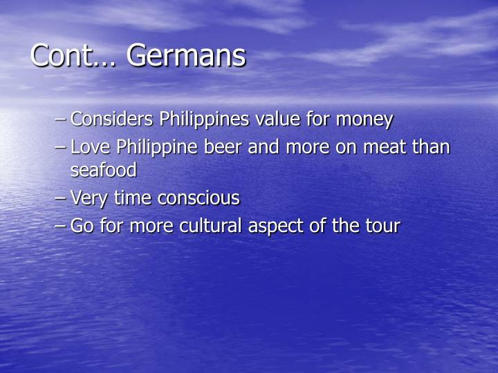 Cont… Germans