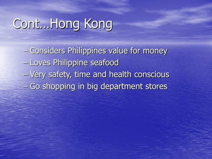 Cont…Hong Kong