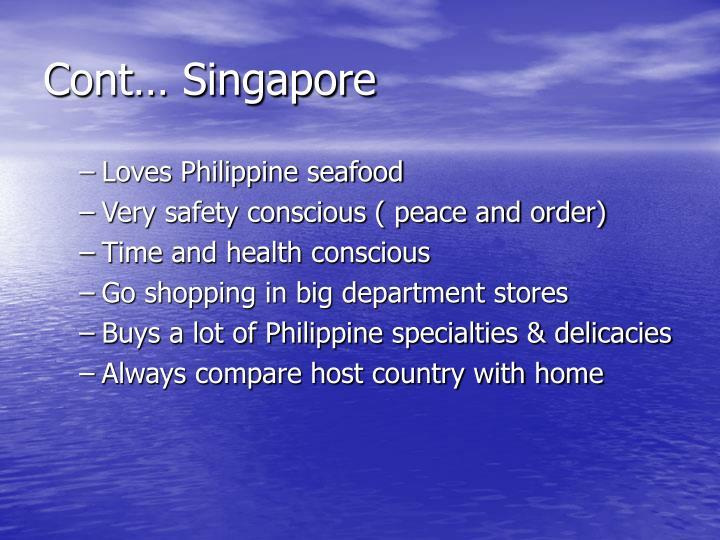 Cont… Singapore