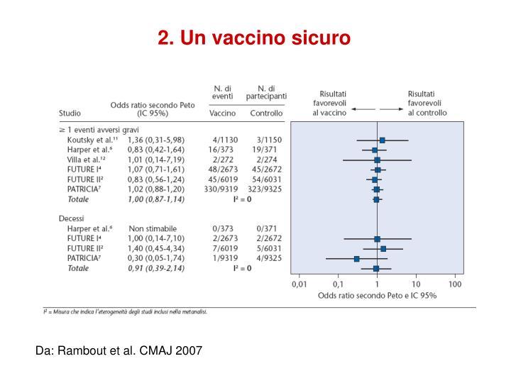 2. Un vaccino sicuro