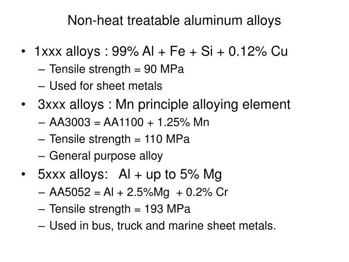 Non-heat treatable aluminum alloys