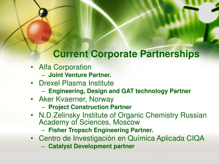 Current Corporate Partnerships
