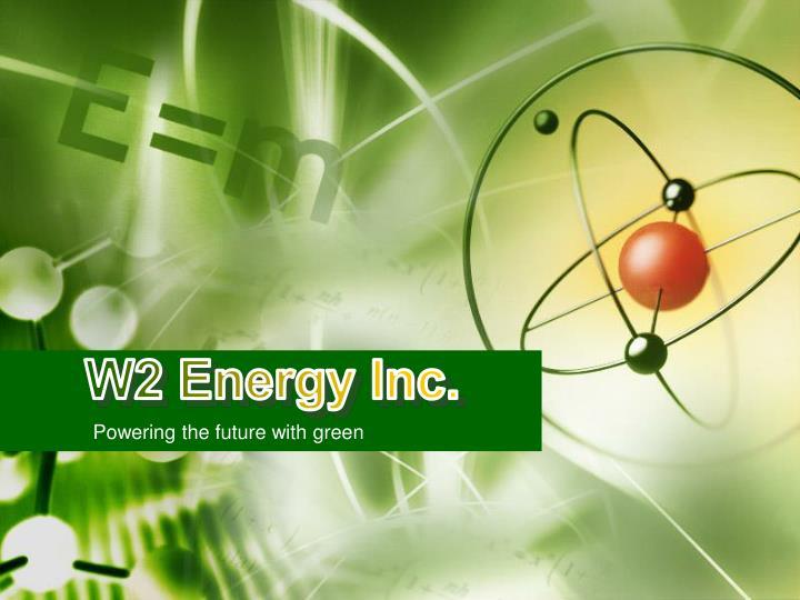 W2 Energy Inc.