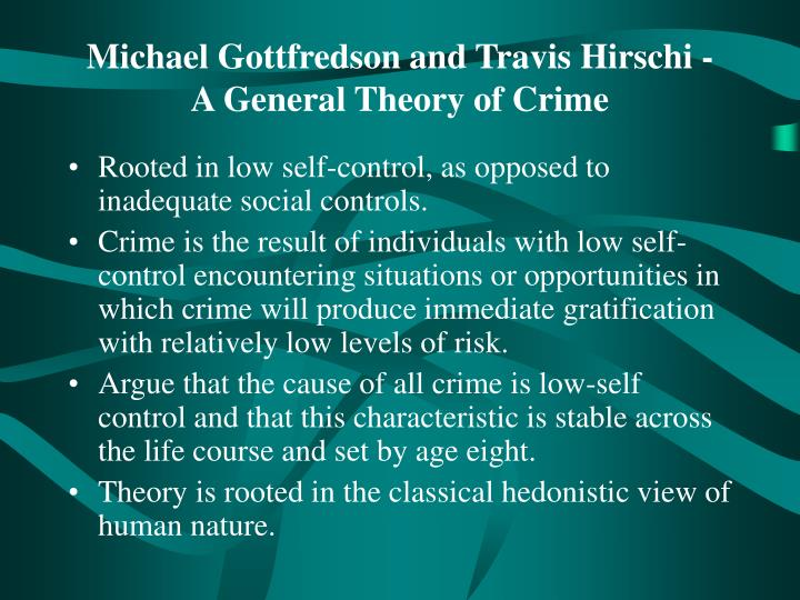 general theory of crime Full-text paper (pdf): general theories of crime | researchgate, the professional network for scientists.