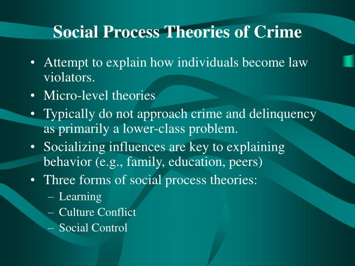 criminal control theory Herbert packer, a stanford university law professor, constructed two models, the crime control model and the due process model, to represent the two competing s.