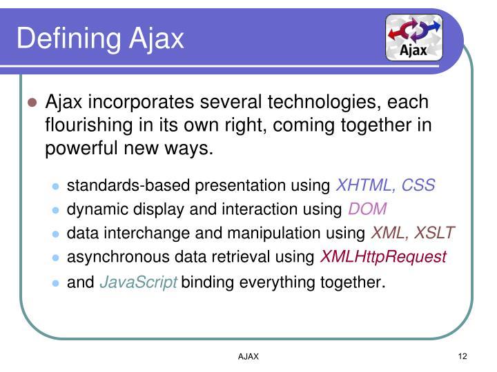 Defining Ajax