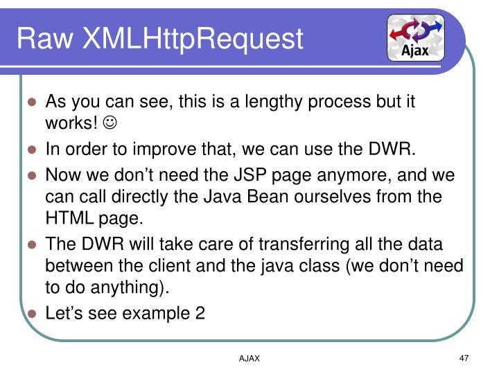 Raw XMLHttpRequest