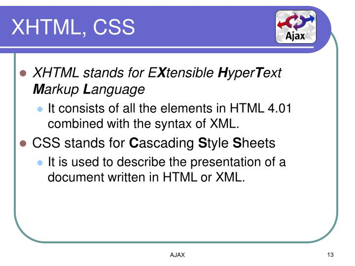 XHTML, CSS