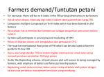 farmers demand tuntutan petani