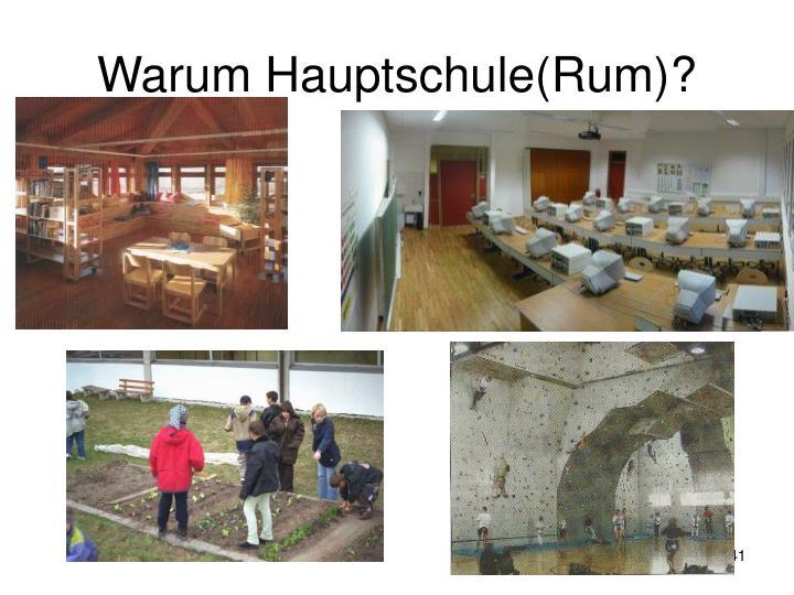 Warum Hauptschule(Rum)?