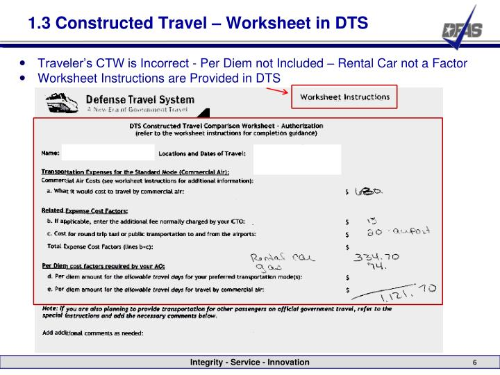 Constructed Travel Worksheet: Travel Cost Comparison Worksheet   Rringband,