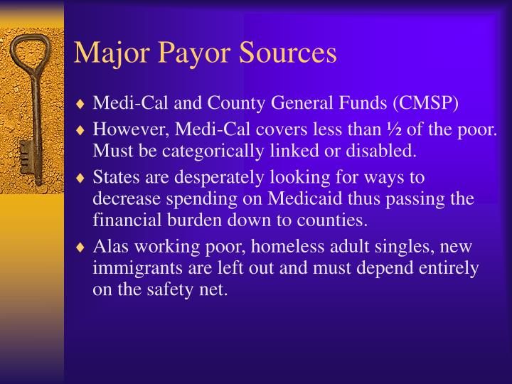 Major Payor Sources