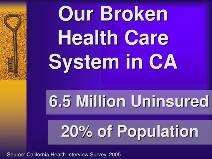 Our Broken Health Care System in CA