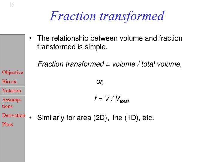Fraction transformed