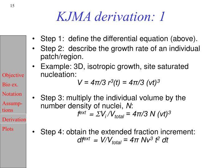 KJMA derivation: 1