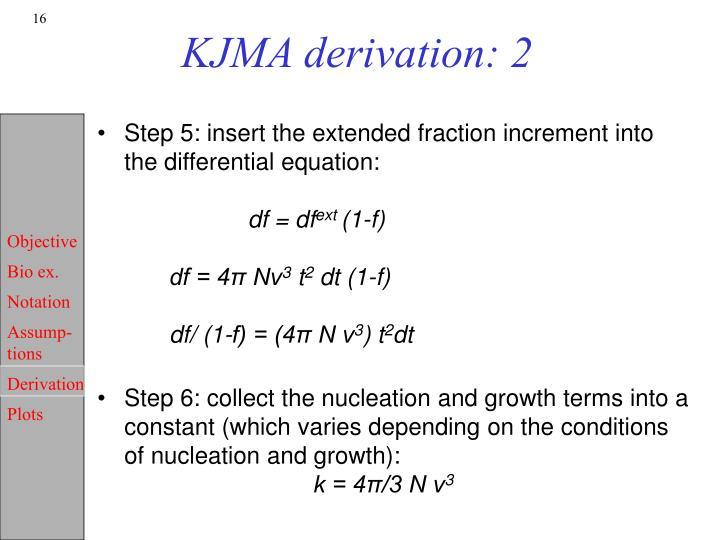 KJMA derivation: 2