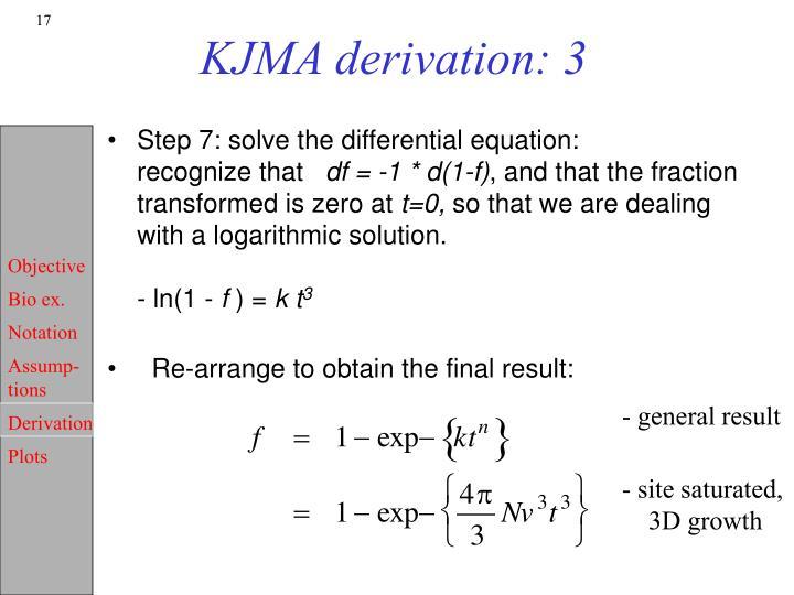 KJMA derivation: 3