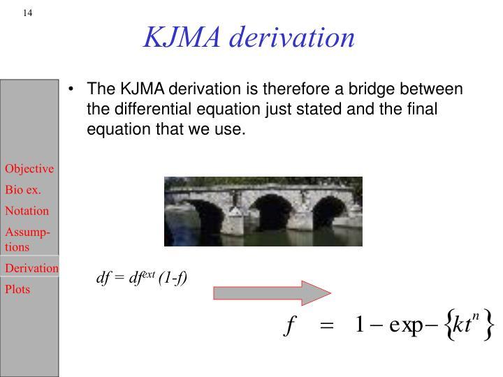 KJMA derivation
