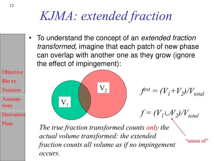 KJMA: extended fraction