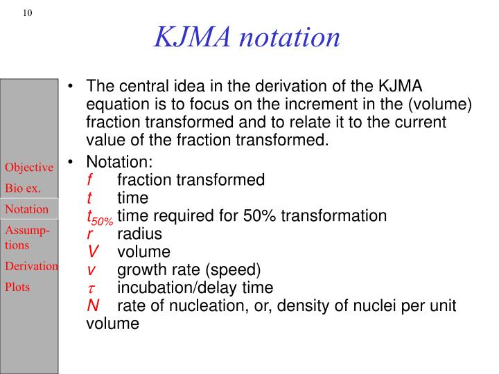 KJMA notation