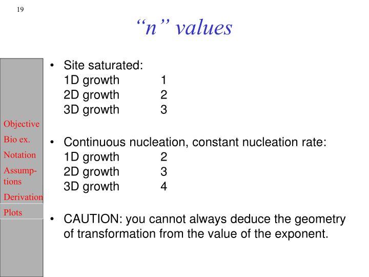 """""""n"""" values"""