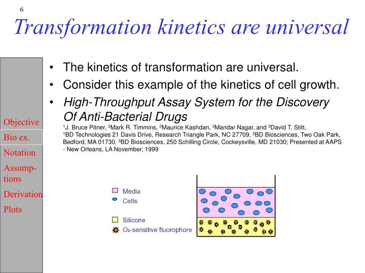 Transformation kinetics are universal