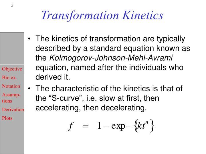 Transformation Kinetics