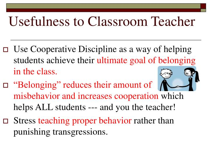 Cooperative Clusters Classroom Design Definition ~ Ppt linda albert s cooperative discipline powerpoint
