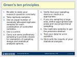 green s ten principles
