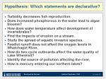 hypothesis which statements are declarative