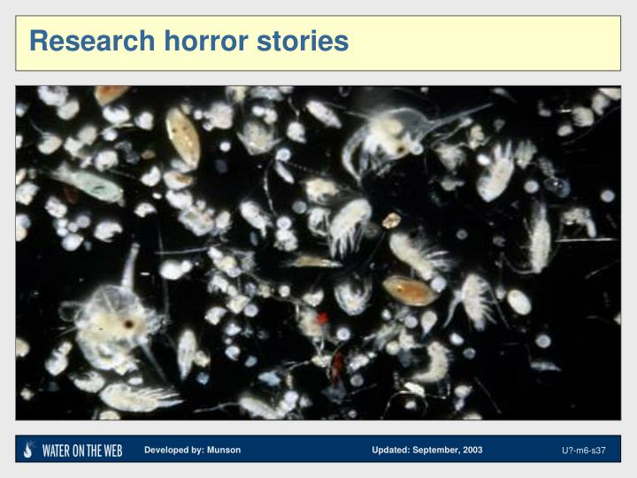 Research horror stories